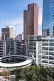 大厦在街市休斯敦,得克萨斯 库存图片