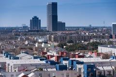 大厦在街市休斯敦,得克萨斯 图库摄影