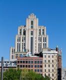大厦在街市蒙特利尔 免版税图库摄影