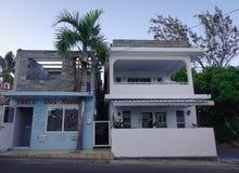 大厦在路易港,毛里求斯 免版税图库摄影