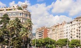 大厦在巴塞罗那,西班牙 库存照片