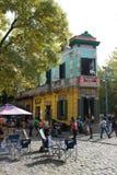 大厦在Caminito,拉博卡,布宜诺斯艾利斯 免版税库存照片