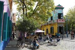 大厦在Caminito,拉博卡,布宜诺斯艾利斯 免版税库存图片