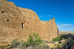 大厦在Chaco文化全国历史公园, NM,美国 免版税库存照片