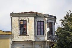 大厦在Gevgelija 秋天 马其顿 免版税库存照片
