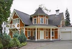 大厦在Jurmala镇 拉脱维亚 库存图片