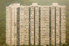 大厦块在小山的在香港 免版税库存图片
