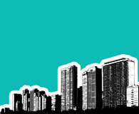 大厦城市例证 库存照片