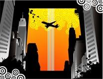 大厦城市向量 免版税库存照片