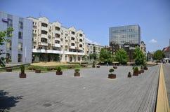 大厦城市圆柱状大厅匈牙利 库存照片