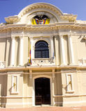 大厦城市圆柱状大厅匈牙利 免版税库存图片