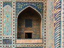大厦墙壁在乌兹别克斯坦。 库存照片
