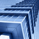 大厦壁角现代办公室 免版税库存照片