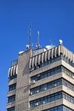 大厦天线 库存图片