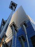 大厦太阳面板的次幂 免版税库存图片