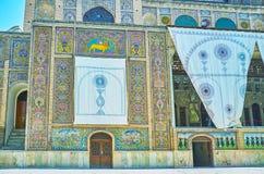 大厦太阳, Golestan,德黑兰装饰的元素  图库摄影