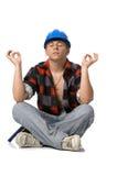 大厦工作者年轻人 免版税库存图片