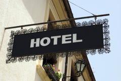 大厦工厂有历史的旅馆符号样式 旅馆 标志 库存照片