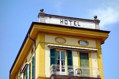 大厦工厂有历史的旅馆符号样式 免版税库存照片