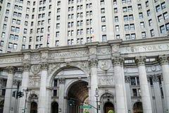大厦市政的曼哈顿 免版税库存图片