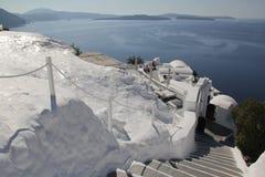 大厦希腊小山海岛santorini 免版税图库摄影