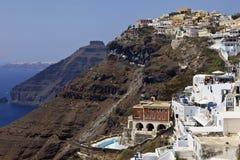 大厦希腊小山海岛santorini 库存照片