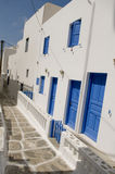 大厦希腊海岛 免版税库存图片