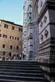 大厦建筑学在锡耶纳,意大利 免版税库存照片