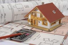 大厦房子计划 库存图片