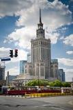 大厦文化宫殿华沙 免版税库存照片