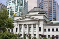 大厦新的老温哥华 免版税库存照片