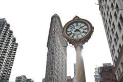 大厦时钟平面的铁 免版税库存照片