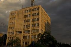 大厦是很有趣在日落 免版税库存照片