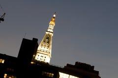 大厦晚上 免版税库存图片
