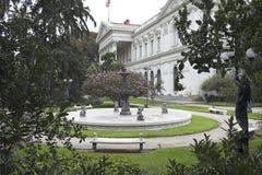 大厦智利国会de前面的圣地亚哥 库存照片