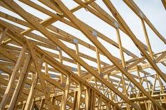 大厦木头构筑 免版税库存照片