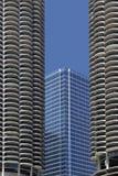 大厦构成的现代更旧的摩天大楼 免版税库存图片