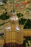 大厦模型在Kotelnicheskaya堤防-七个斯大林主义摩天大楼之一的 免版税库存照片