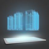 大厦模型  图库摄影
