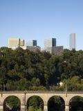 大厦欧洲卢森堡现代季度 免版税库存照片