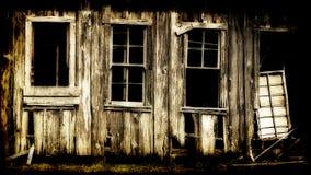 大厦毁坏了木 免版税库存照片