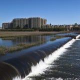大厦水坝 免版税库存照片