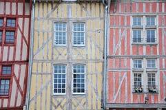大厦法国中世纪troyes 库存照片
