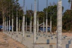 大厦混凝土堆的建筑结构 免版税库存图片