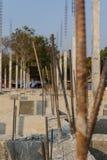 大厦混凝土堆的建筑结构 免版税库存照片
