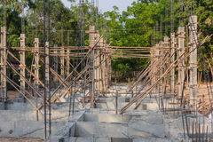 大厦混凝土堆的建筑结构 库存图片