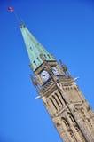 大厦渥太华议会和平塔 免版税库存图片