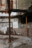 大厦烧光了宗教遗骸废墟 免版税库存照片