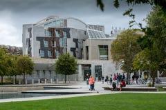 大厦爱丁堡议会苏格兰人 库存照片