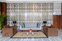 大厦现代大厅的休息室 免版税库存照片